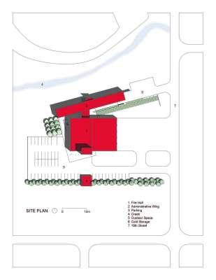 Brandon Fire Hall site plan