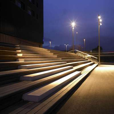 Sitting steps at Night