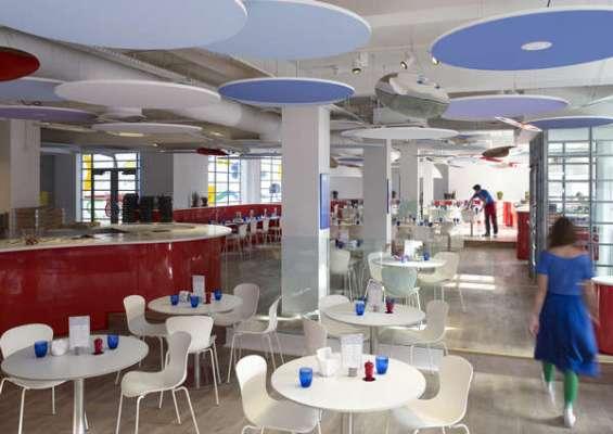 Interior view showing open plan of restaurant - Photograph: John Short Image - © Ab Rogers Design