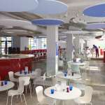 Interior view showing open plan of restaurant - Photograph: John Short Image - © Ab Rogers Design