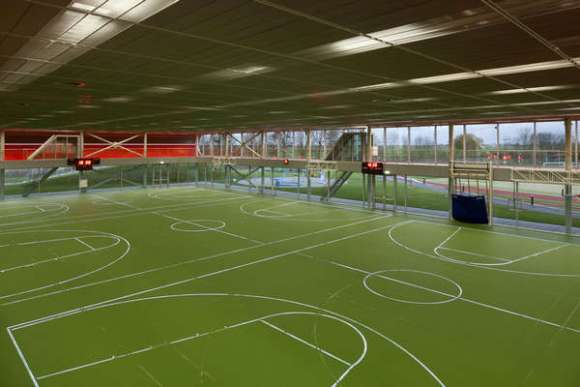 Interior Photo, Sports Hall, with LED Lines