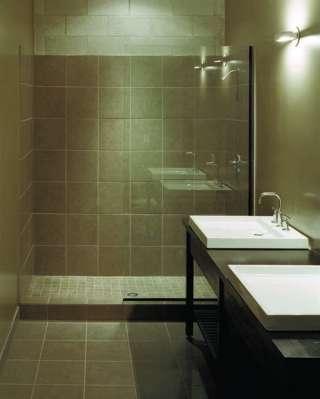 Interior toilet room view