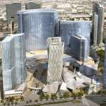 Aerial Rendering of CityCenter site