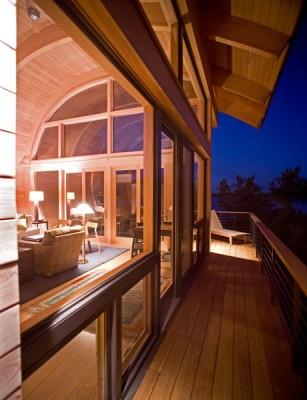 Exterior porch looking interior (Image Courtesy George Cott)