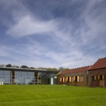 The rolling lawn with oak clad archive (Image Courtesy Richard Bryant)