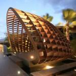 View of Entry Pavillion (Images Courtesy Belzberg Architects)