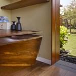 A carved walnut desk in the Den (Images Courtesy Benny Chan)