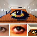 Anamorphosis eye (Image Courtesy Miguel de Guzmán)