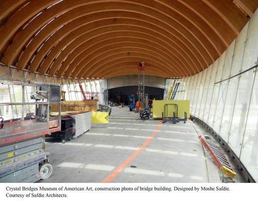 Construction photo of bridge building interior