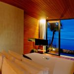 Maximum view to the sea from master bedroom in the evening