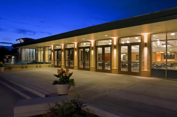 South Facade Patio (Image Courtesy Miller Hall)