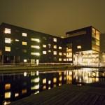 Exterior View in night (Images Courtesy Rafael Palomo)