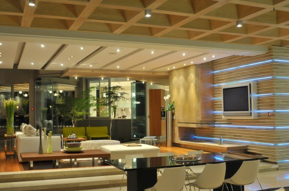 Family room  Interior design by M Square Lifestyle design