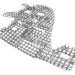 Steel frame grid
