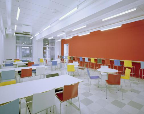 View of the student lounge on the 3rd floor (Image Courtesy Yoshihisa Araki)