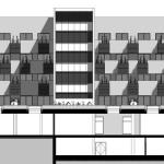 Apartment terraces elevation