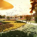 Urban Park - Arial view