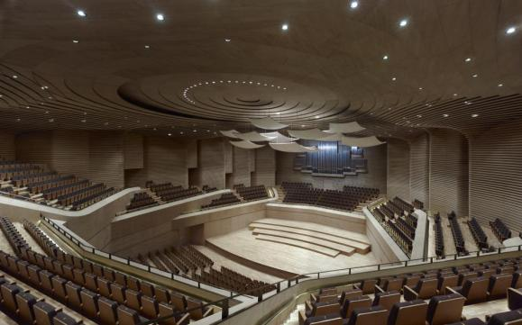 The concert hall - Image Courtesy Christian Gahl
