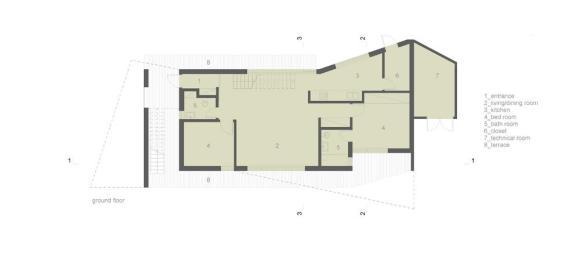 Ground floor : Image Courtesy Donner Sorcinelli Architecture