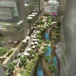 Aerial View of Al Maktoum River Walk : Image Courtesy Klingmann Architects + Brand Consultants