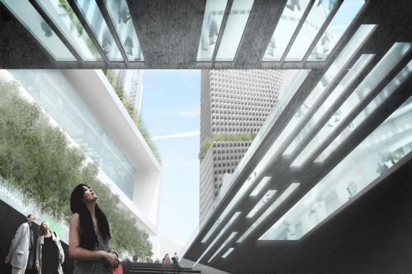 New-Entrance-SW : Image Courtesy WXY Architecture + Urban Design