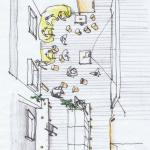Sketch MTG space : Image Courtesy Schemata Architects