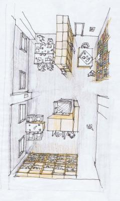 Sketch Library & storage : Image Courtesy Schemata Architects