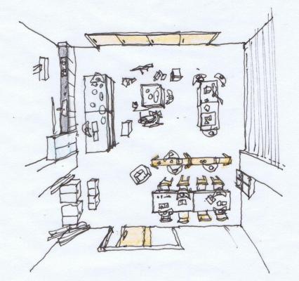 Sketch studio4 : Image Courtesy Schemata Architects