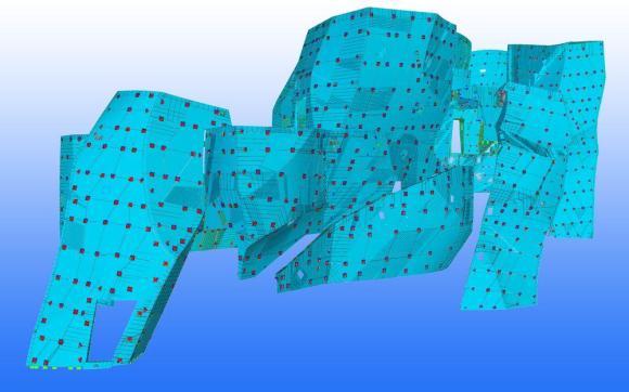 Icebergs Louis Vuitton Foundation Full Model Copyright © 2012 Tekla Corporation.