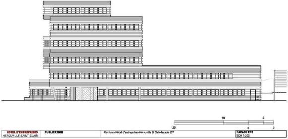 Façade east : Image Courtesy Platform Architectures