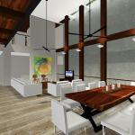 Living : Image courtesy Herryj Architects