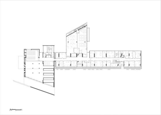 1st floor plan : Image Courtesy Eraclis Papachristou – Architects