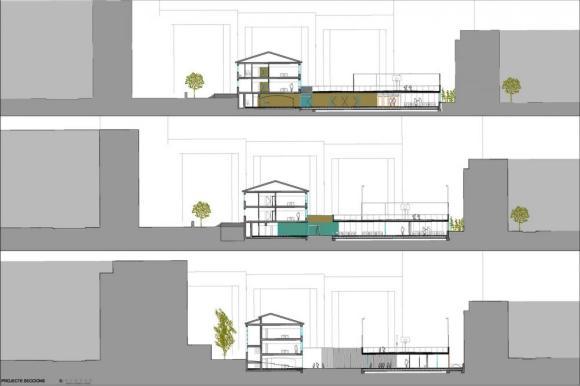 Sections : Image courtesy Roure / de León arquitectos slp + Jesús Carrasco-Muñoz Prats