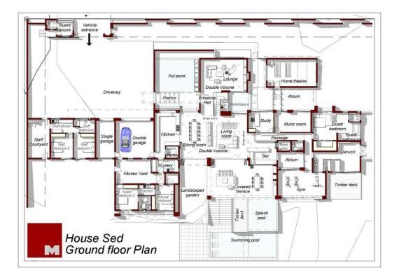 Ground Floor Plan : Image courtesy Nico Van Der Meulen Architects