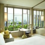 View of sky terrace from deluxe room, Image Courtesy © Patrick Bingham-Hall