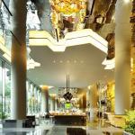 Public areas lift lobby looking towards all-day dining restaurant, Image Courtesy © Patrick Bingham-Hall
