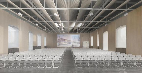 The auditorium, Image Courtesy © C+S Architects