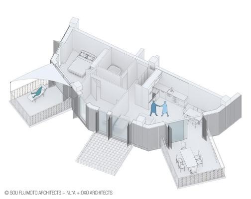 Image Courtesy © SOU FUJIMOTO ARCHITECTS + NICOLAS LAISNE ASSOCIES + MANAL RACHDI OXO ARCHITECTS