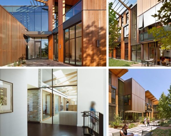 Wood, stone, copper and glass honestly express modern construction while highlighting the beauty of naturally-finished materials., Image Courtesy © Jeremy Bittermann