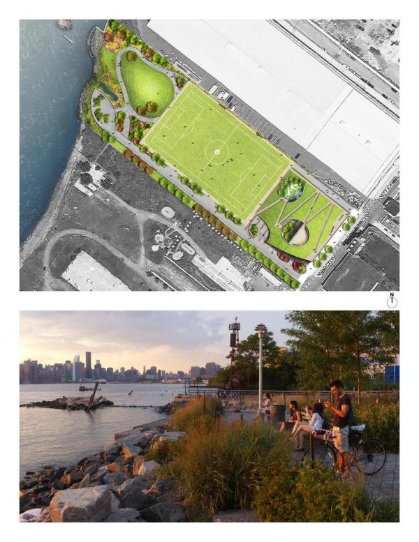 Site Plan and waterfront - Photo Credit: Starr Whitehouse Landscape Architects and Planners PLLC © New York City, NYC Parks