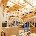fixed floor beams on Y-frame, Image Courtesy © Hiroyuki Shinozaki Architects