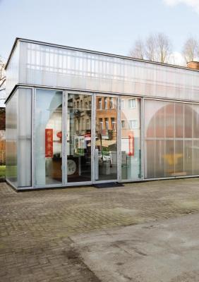 View at the multipurpose entrance space., Image Courtesy © Ilse Liekens