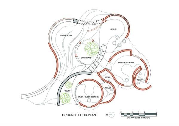 Image Courtesy © iSTUDIO architecture, Ground floor plan