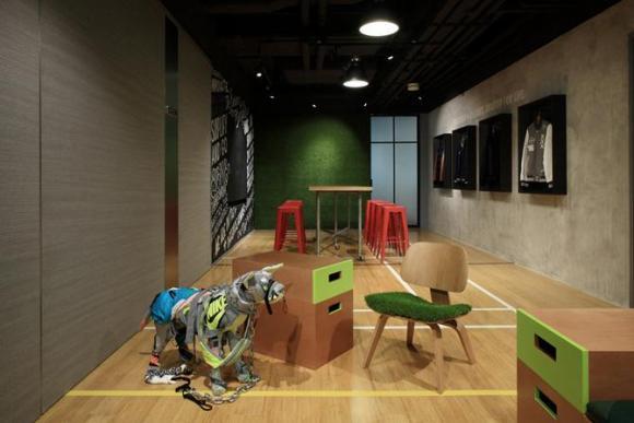 Playful lounge and workspace, Image Courtesy © openUU ltd