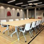 Conference room with Nike Tech-fleece walls, Image Courtesy © openUU ltd