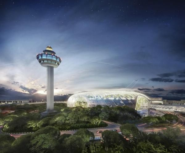 Jewel Changi Airport, Image Courtesy © Safdie Architects