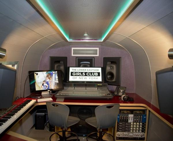 Image Courtesy © Lower East Side Girls Club Airstream Recording / Teaching Studio CR, Cheryl Fleming