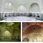 Sicaklik (caldarium) Before and After Restoration, Image Courtesy © Ergin Iren (old), Cengiz Karliova (new)