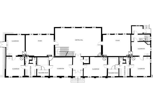 Ground floor plan, Image Courtesy © Zaigas Gailes Birojs