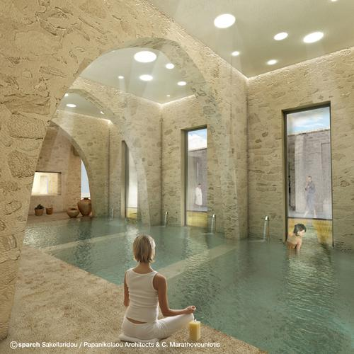 Spa, Image Courtesy © sparch Sakellaridou/ Papanikolaou Architects & Ch. Marathovouniotis
